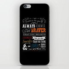 Promise me this.. iPhone & iPod Skin