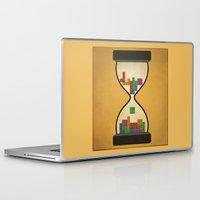 tetris Laptop & iPad Skins featuring tetris by gazonula