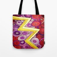 lightning Tote Bags featuring Lightning by DuckyB