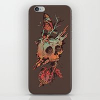 et iPhone & iPod Skins featuring Mors et Natura by Norman Duenas