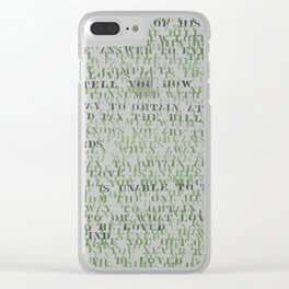 Sentences of Love Green Clear iPhone Case