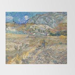 Landscape at Saint-Rémy by Vincent van Gogh Throw Blanket