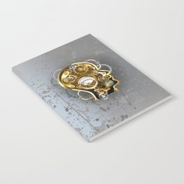 Steampunk Head with Manometer Notebook