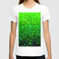 sparkles T-shirts featuring Glitter Sparkles Green by Saundra Myles
