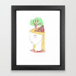 City in her head Framed Art Print