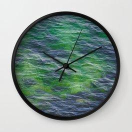 Sea surface pattern Wall Clock