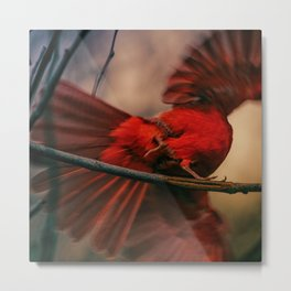 Abstract Bird Metal Print