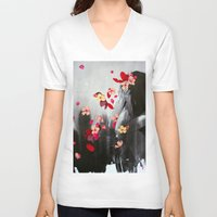 rush V-neck T-shirts featuring Rush by Stasia B
