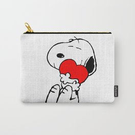 Lovely Snoopy With Hearts Carry-All Pouch