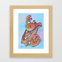 Pirate Ship Wheel Framed Art Print