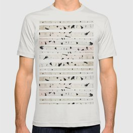 birch watercolor pattern 2018 T-shirt