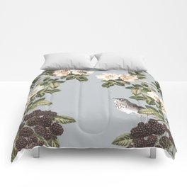 Birds and the Bees Gray Comforters