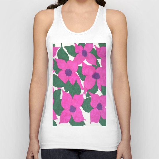 Spring Classic Pink Flowers Unisex Tank Top