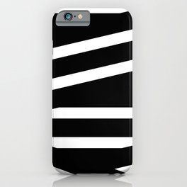 Abstract black & white Lines Stripes Pattern - Mix and Match with Simplicity of Life iPhone Case