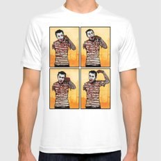 The Zombie Mime! X-LARGE White Mens Fitted Tee