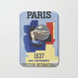 Paris 1937 02 - Vintage Poster Bath Mat