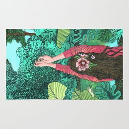 Comic Book Jungle Rug