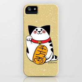 Teh as Maneki Neko Cat iPhone Case