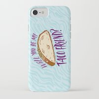 taco iPhone & iPod Cases featuring Taco Friend by Josh LaFayette