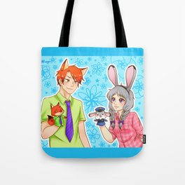 Nick Wilde and Judy Hopps (human version) - Zootopia Tote Bag