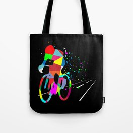 Cycling Forever | Colorful Speed Tote Bag