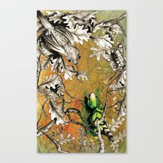 The Nightingale and the Lizard Canvas Print