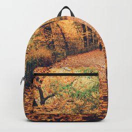 Autumn Walk New York City Backpack