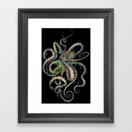 Octopsychedelia (black) Framed Art Print