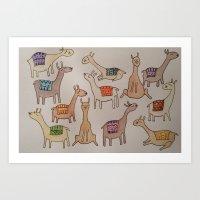 Llamas with no Dramas  Art Print
