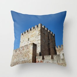 Lisbon Castle, Portugal Analog 6x6 Kodal Ektar 100 (RR 164) Throw Pillow
