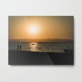 Waiting for the sunset by the ocean Metal Print