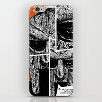 mf doom iPhone & iPod Skins featuring MF Doom by Crooked Octopus