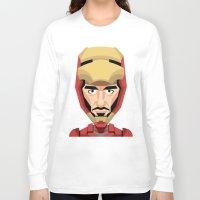 robert downey jr Long Sleeve T-shirts featuring Robert Downey Jr, vector caricature by Kaexi