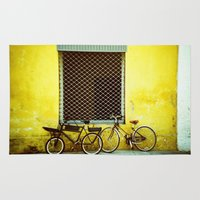 bicycles Area & Throw Rugs featuring Bicycles by The Dalai Lomo