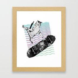 Kick Flipping Kitty | Skateboarding SK8CAT | Tony Hawks Cat Framed Art Print