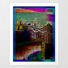 Manipulated City Art Print
