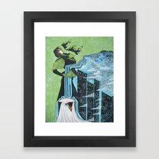 Cyperus alternifolius Framed Art Print