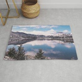 Mount Shasta Reflection Rug