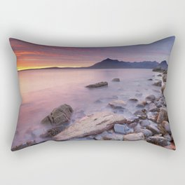 II - Spectacular sunset at the Elgol beach, Isle of Skye, Scotland Rectangular Pillow