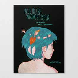 Blue is the Warmest Color Fan Poster Canvas Print