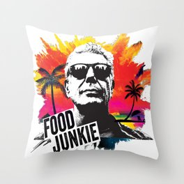 Food Junkie Throw Pillow