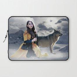 Gothic Princess & Wolf Laptop Sleeve