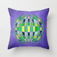 globe Throw Pillows featuring globe by Katilinova