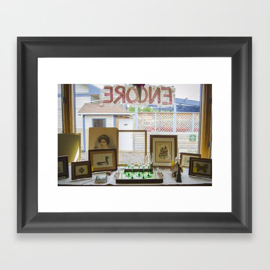 Store window  Framed Art Print