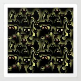 black cat pride Art Print