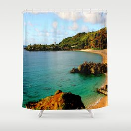 Waimea Bay ... By LadyShalene Shower Curtain