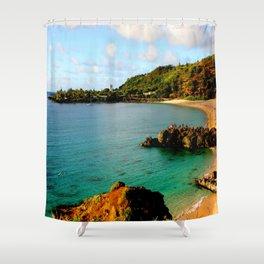 Waimea Bay ... By LadyShalene Shower Curtain