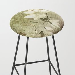 Magnolia Blossoms Textured Bar Stool