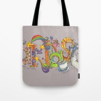 namaste Tote Bags featuring Namaste by Aubree Eisenwinter