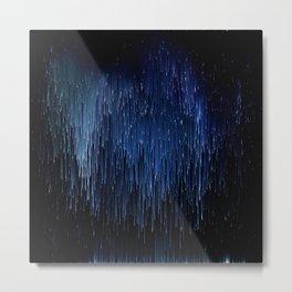 Planet Pixel Solar Rain Metal Print